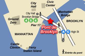 Plan d'accès au pont de Brooklyn