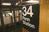 La station 34th Street - Penn Station.