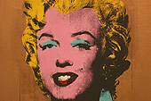 Portait de Marylin Monroe par Andy Wahrol.