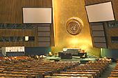 L'imposante salle de l'Assemblée générale.