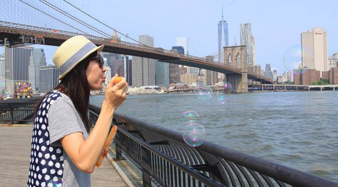bolle di sapone a New York