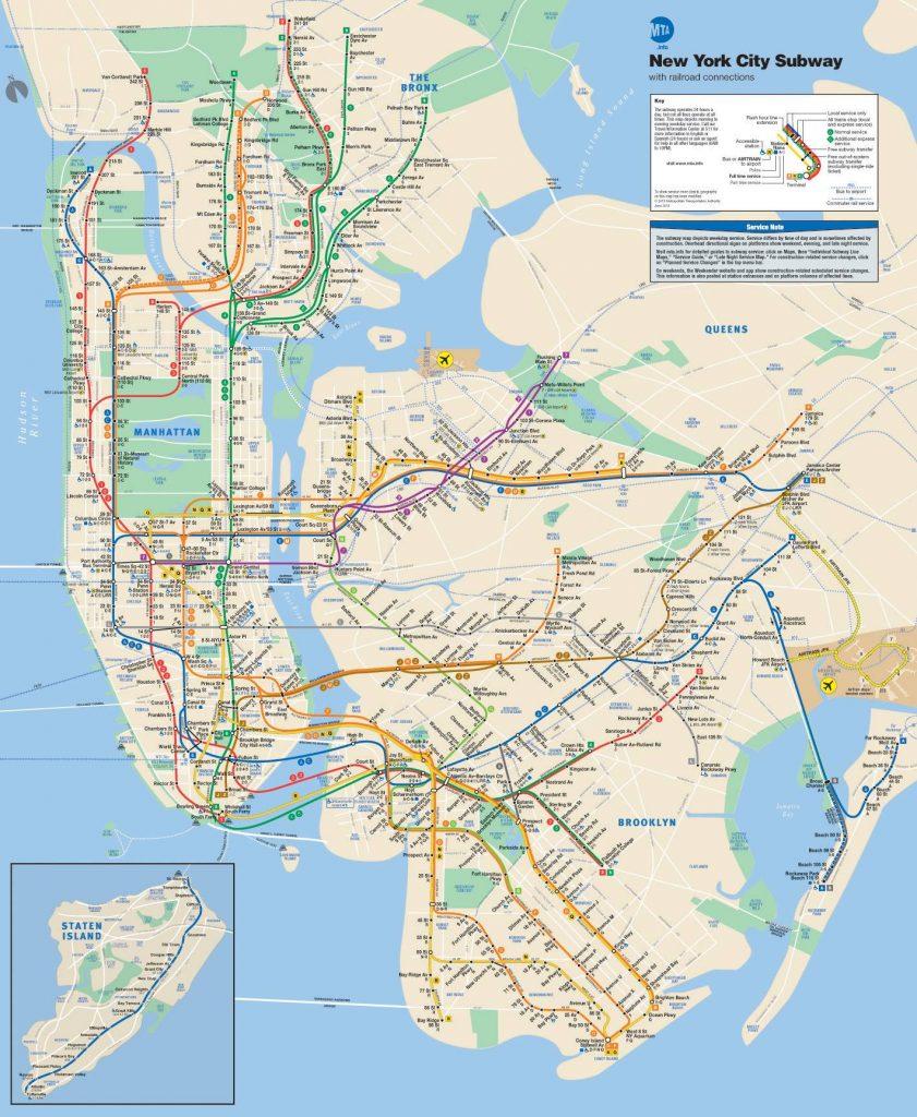 Plan du métro de New York