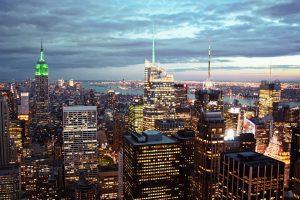 New York à la nuit tombante. (Photo Dimitri B.)