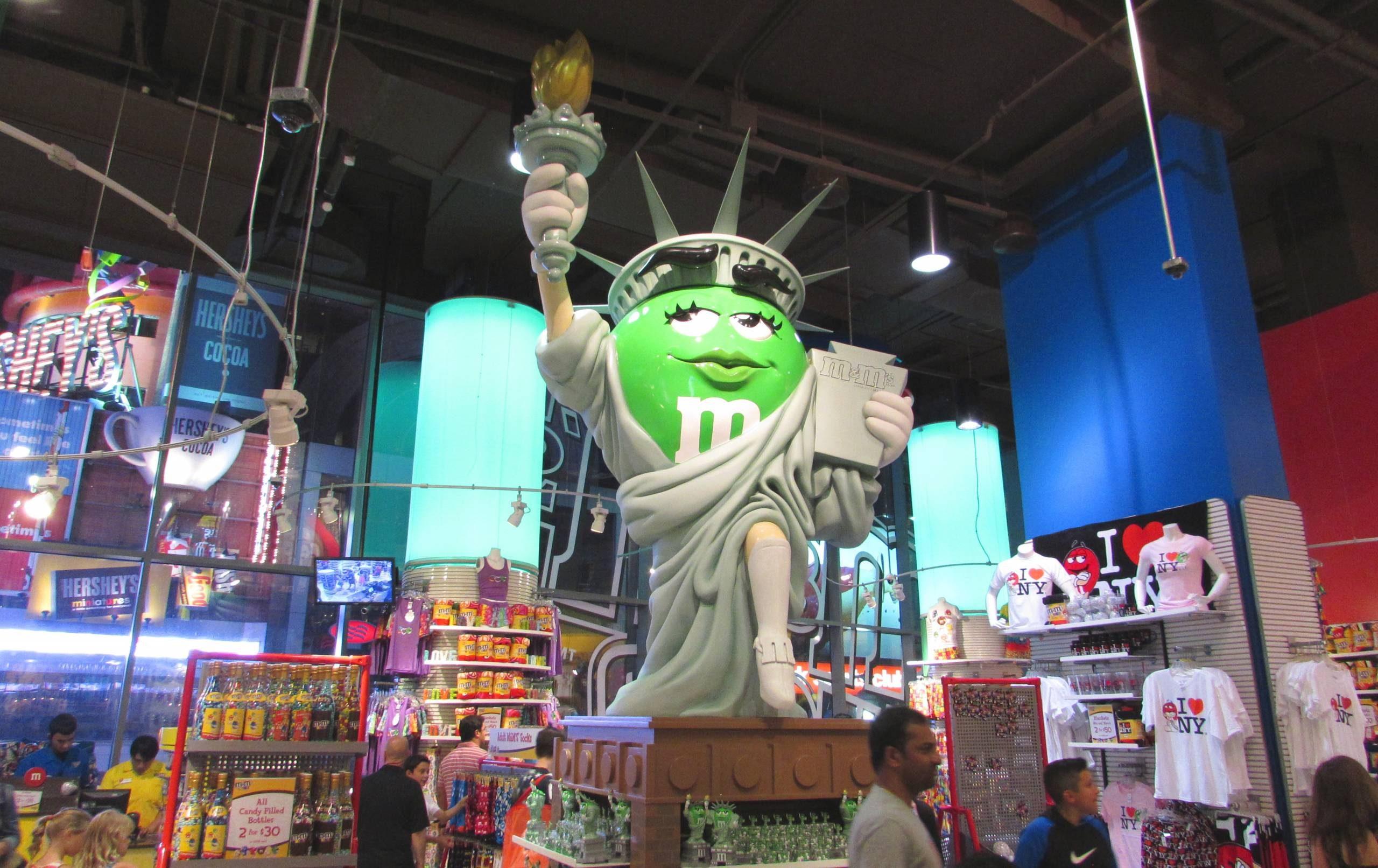 Statua della Libertà M&M's